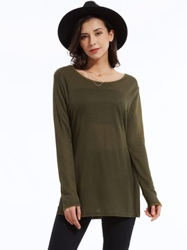 Ericdress Army Green Casual T-Shirt