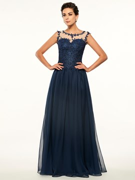 Ericdress Elegant Scoop Appliques A Line Long Mother Of The Bride Dress
