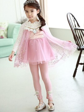 Ericdress Lace Patchwork Long Sleeve Girls Princess Dress