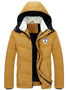 Ericdress with Hood Thicken Warm Casual Men's Winter Coat