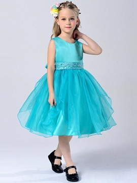 Ericdress Asym Diamond Sleeveless Girls Princesss Dress