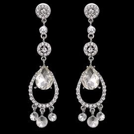 Ericdress Water Drop Shaped with Rhinestone Alloy Earrings