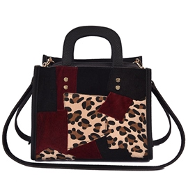 Ericdress Simple Leopard Patchwork Shoulder Bag