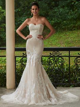 Ericdress Charming Sweetheart Lace Mermaid Color Wedding Dress