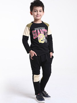 Ericdress Printed Color Block Casual Boys Outfit