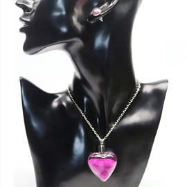 Ericdress Rose Quicksand Heart-Shaped Two Pieces Jewelry Set