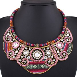 Ericdress Colorful Handmade Beaded Ethnic Style Necklace