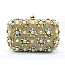 Ericdress Diamante Floral Beaded Evening Clutch