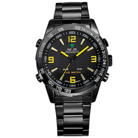 Ericdress Yellow Pointer Design Black Band Men's Watch
