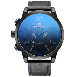 Ericdress Blue Glass Surface Analog Display Men's Watch