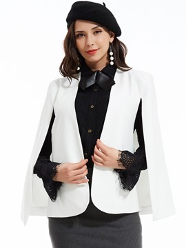Plain Slim Batwing Sleeves Blazer