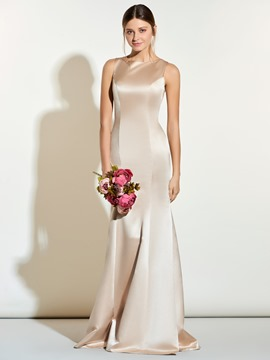 Ericdress High Quality Jewel Sheath Long Bridesmaid Dress