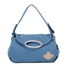 Ericdress Vintage Maple Applique Canvas Crossbody Bag