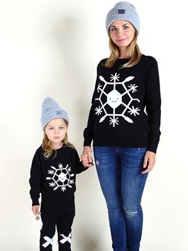 Ericdress Snowflake Pattern Girls Sweater