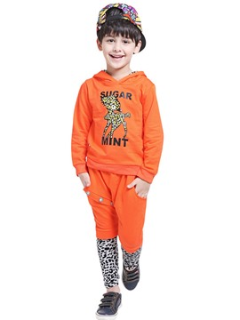 Ericdress Hooded Leopard Patchwork Boys Outfit