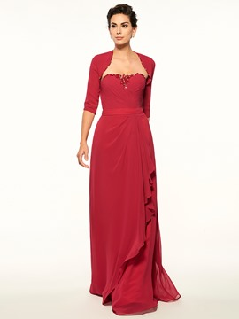 Ericdress Modest Strapless A Line Long Mother Of The Bride Dress With Jacket