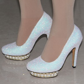 Ericdress Sequins Platform Ultra-High Heel Pumps