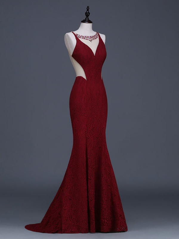 Ericdress Delicate Jewel Neck Beading Crystal Lace Court