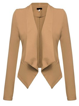 Ericdress Solid Color Wrapped Slim Blazer