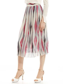 Ericdress Gradient Mid-Calf Pleated Skirt