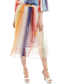 Ericdress Color Block Tassel Straight Skirt