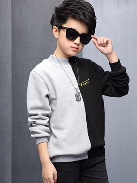Ericdress Color Block Long Sleeve Boys Hoodie