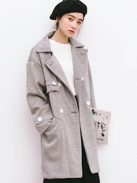 Ericdress Casual Loose Polo Coat