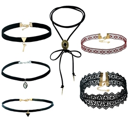 Ericdress Gothic Stretch Velvet 6 Pcs Choker Necklace