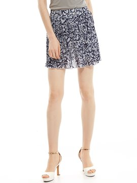 Ericdress Geometric Pattern Pleated Mini Skirt