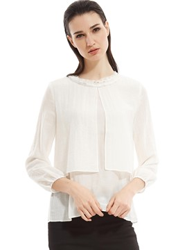 Ericdress Plain Loose Chiffon Blouse