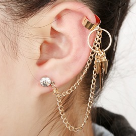 Ericdress Rivets Design Chain Women's Ear Cuff