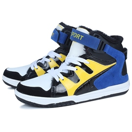 Ericdress Bright Color Block Velcro High Top Men's Sneakers