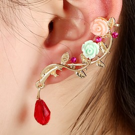 Ericdress Exquisite Rose Decorated Women's Ear Cuff