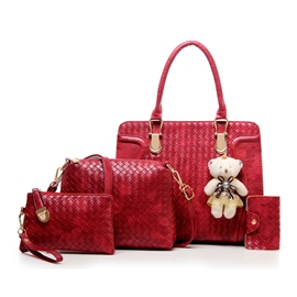 Ericdress Graceful Weaved Pattern Handbags(4 Bags)