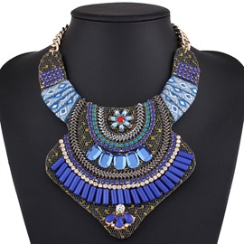 Ericdress Rhinestone Alloy Handmade Statement Necklace