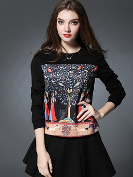 Ericdress Plus Size Printed T-Shirt