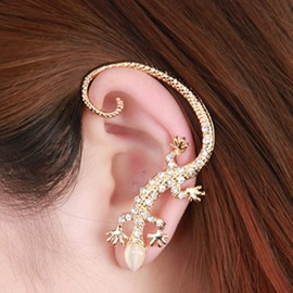 Ericdress House Lizard Design Diamante Ear Cuff
