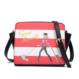 Ericdress Cartoon Stripe Print Crossbody Bag