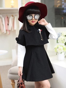 Ericdress Plain Lapel Three-Piece Suit Girls Dress