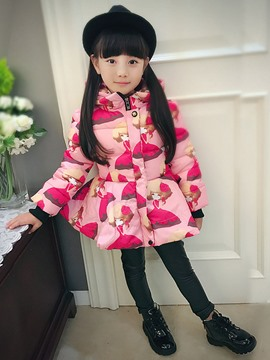 Ericdress Cartoon Peplum Zipper Hooded Outerwear