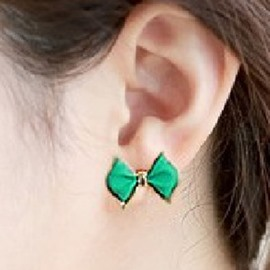 Ericdress Unique Green Bowknot Stud Earrings