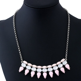 Ericdress Pink Acrylic Pendant Alloy Women's Necklace