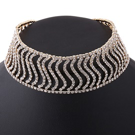 Ericdress S-Shaped Rhinestone Inlaid Retro Choker Necklace