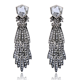 Ericdress Long Alloy Diamante Vintage Style Earrings