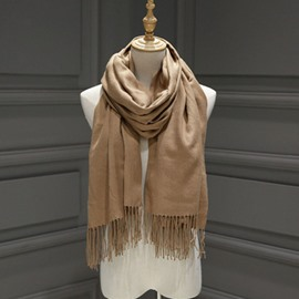 Ericdress Solid Color Imitation Cashmere Scarf