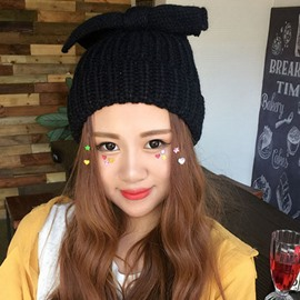 Ericdress Bowknot Design Pure Color Knitted Hat
