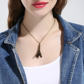 Ericdress Retro Eiffel Tower Pendant Necklace