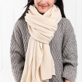 Ericdress Solid Color Woolen Yarn Knitted Scarf