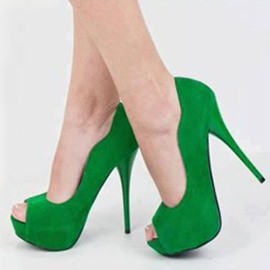 Ericdress Greenery Peep Toe Platform Stiletto Sandals