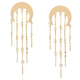 Ericdress Alloy Moon Tassels Pendant Earrings